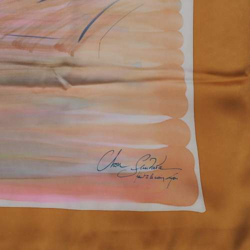 French Silk Satin Handmade Scarf image-5