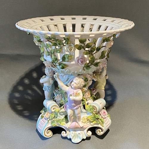 Early 20th Century Large Dresden Porcelain Centrepiece image-1