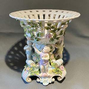 Early 20th Century Large Dresden Porcelain Centrepiece