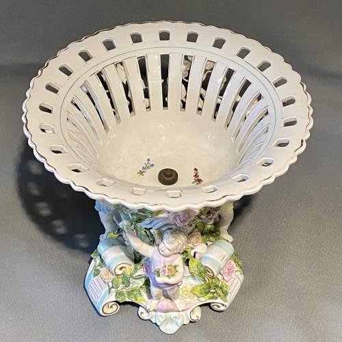 Early 20th Century Large Dresden Porcelain Centrepiece image-3