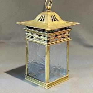 Arts & Crafts Brass Lantern