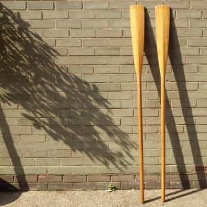 Vintage Wooden Pair of Rowing Boat Oars