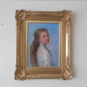 Gilt Framed Portrait of a Young Girl