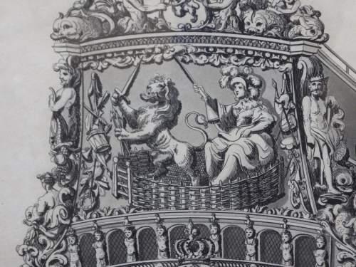 Georgian Ship Print Antique - 1801 - Dutch Second Rate Picture image-4