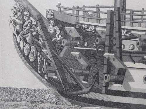 Georgian Ship Print Antique - 1800 - The Royal Prince Picture image-4