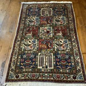 Hand Knotted Persian Baktihari Picture Panel Rug