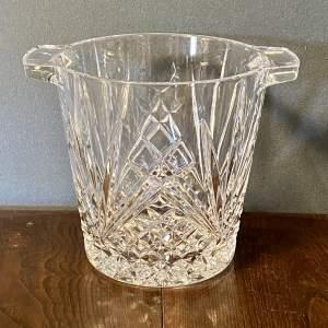Very Heavy Vintage Cut Crystal Wine Cooler