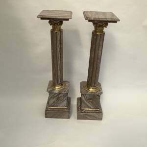 Pair of 19th Century Marble Colomns