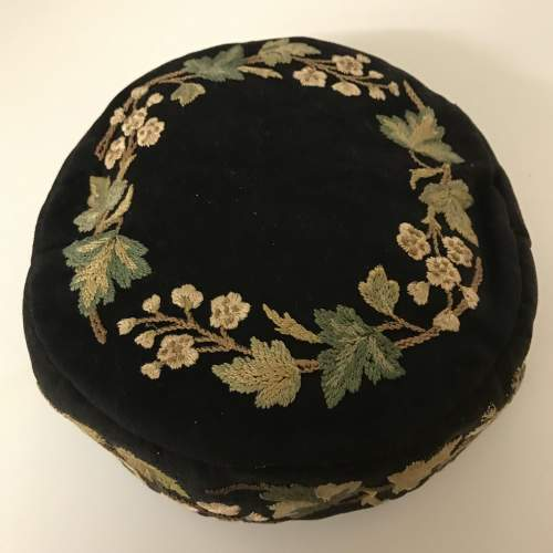 Victorian Smoking Hat Embroidered on Felted Wool image-1