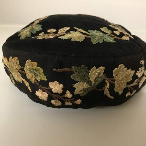 Victorian Smoking Hat Embroidered on Felted Wool image-2