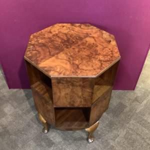 Art Deco Burr Walnut Revolving Bookcase