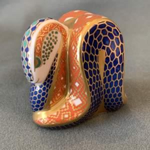 Crown Derby Serpent Paperweight