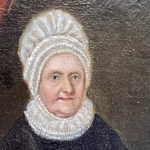 Early Victorian Oil on Canvas Portrait of Elizabeth Fry image-2
