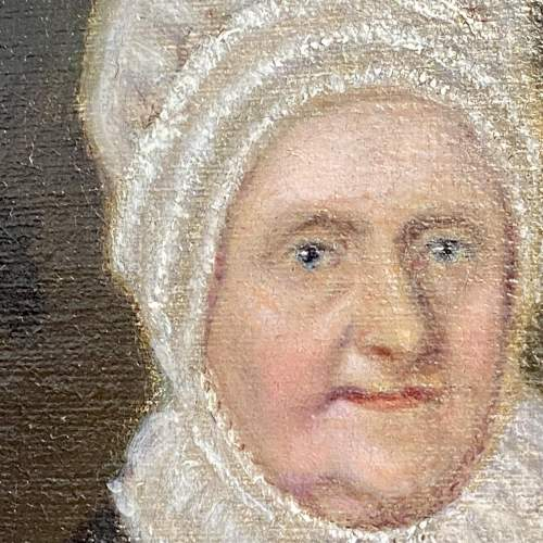 Early Victorian Oil on Canvas Portrait of Elizabeth Fry image-3