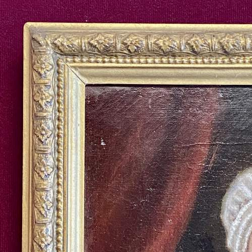 Early Victorian Oil on Canvas Portrait of Elizabeth Fry image-5