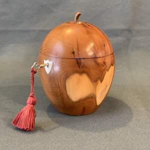 Yew Wood Tea Caddy