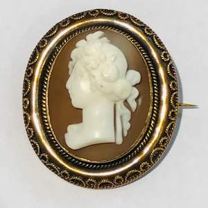Antique 15ct Gold Cameo Brooch