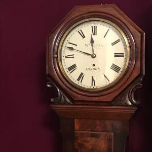 Regency Flame Mahogany Wall Clock