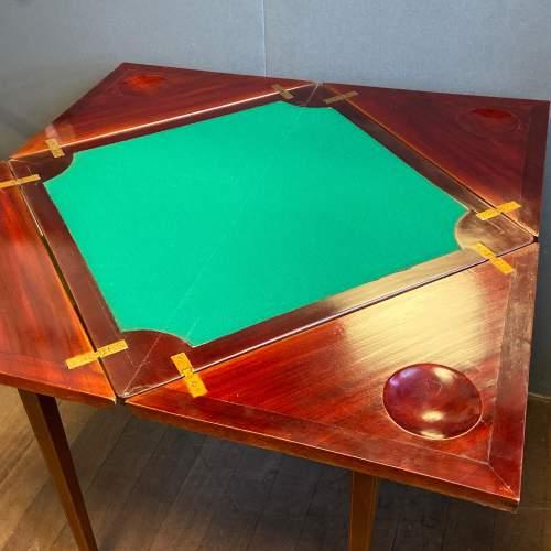Edwardian Envelope Fold Style Card Table image-3