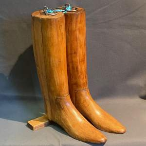 Pair of Early 20th Century Wooden Riding Boot Trees