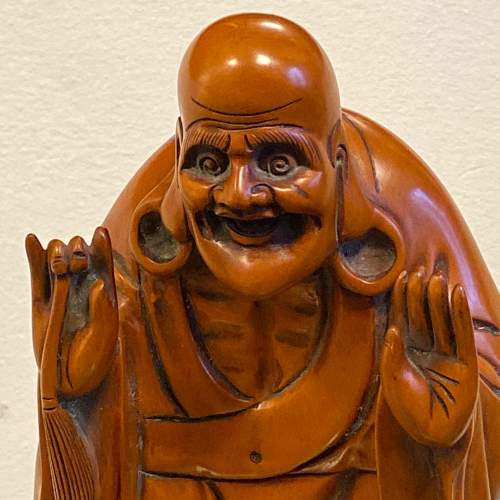Carved Wood Chinese Deity Statue image-2