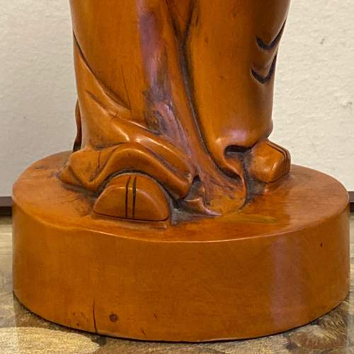 Carved Wood Chinese Deity Statue image-3