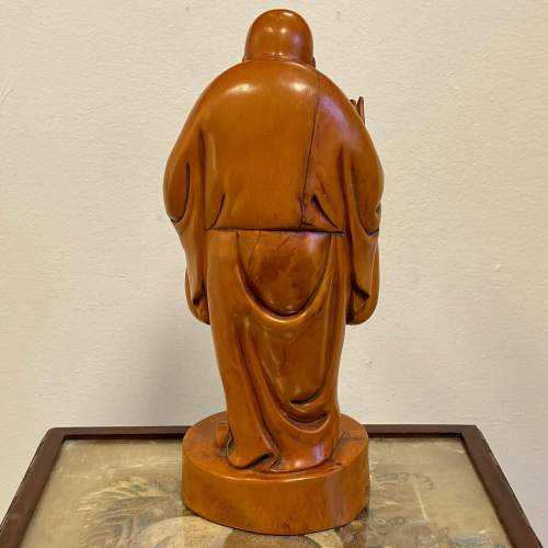 Carved Wood Chinese Deity Statue image-4