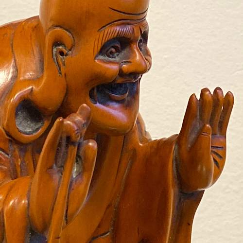 Carved Wood Chinese Deity Statue image-6
