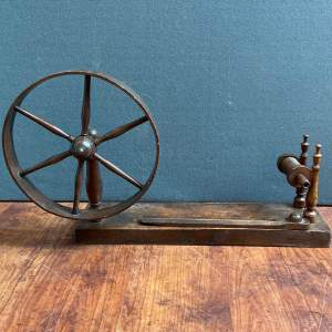 Antique Mahogany Spinning Wheel