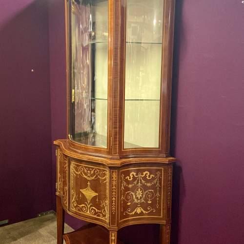 Fine Antique Mahogany Serpentine Shaped Display Cabinet image-2