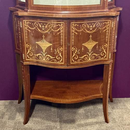 Fine Antique Mahogany Serpentine Shaped Display Cabinet image-3