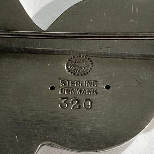 Georg Jensen Silver Brooch by Arno Malinowski image-4