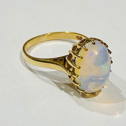 9ct Gold Opal Solitaire Ring image-1
