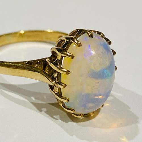 9ct Gold Opal Solitaire Ring image-2