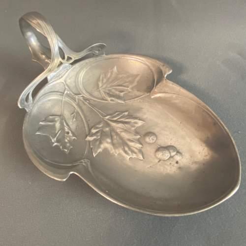 Kayserzinn Art Nouveau Pewter Dish image-1