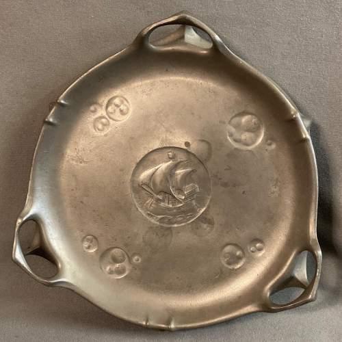 Kayserzinn Art Nouveau Pewter Serving Tray image-1