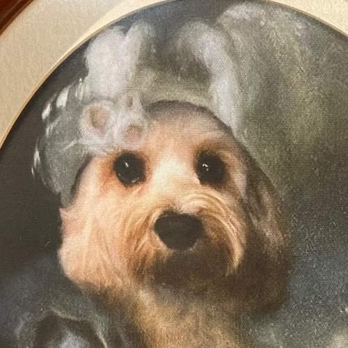 Marie Antoinette Dog Framed Print on Canvas image-2
