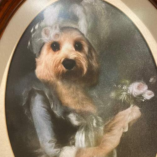 Marie Antoinette Dog Framed Print on Canvas image-3
