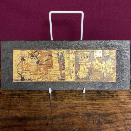 Jupp Dernbach-Mayen Frieze of Vases Burnished Gold on Wood Panel image-1