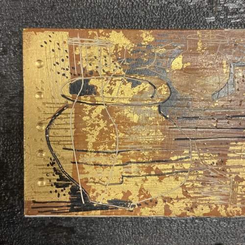 Jupp Dernbach-Mayen Frieze of Vases Burnished Gold on Wood Panel image-2