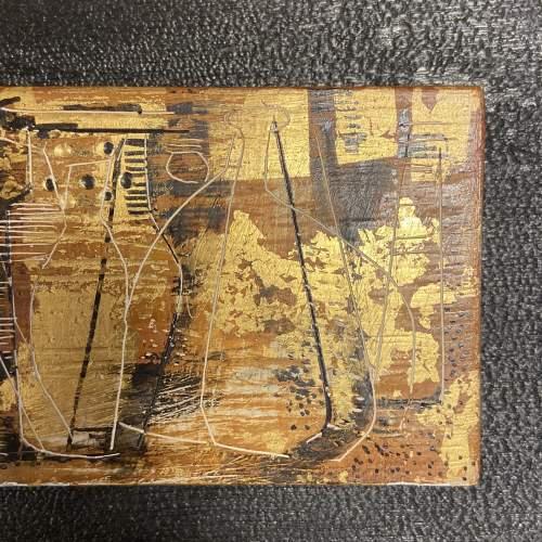 Jupp Dernbach-Mayen Frieze of Vases Burnished Gold on Wood Panel image-3