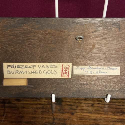 Jupp Dernbach-Mayen Frieze of Vases Burnished Gold on Wood Panel image-4