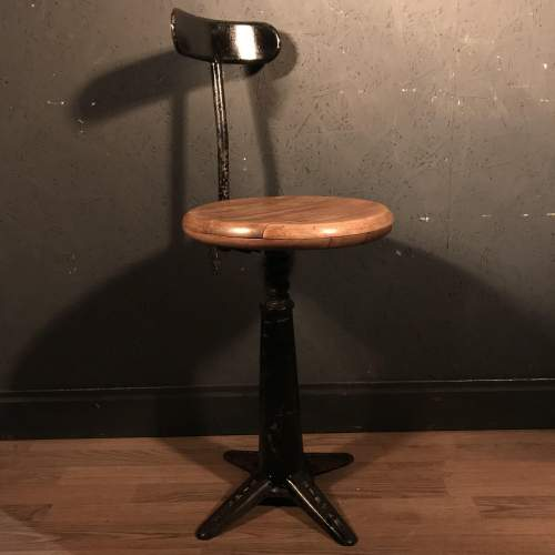 Lovely Singer Machinists Chair image-1
