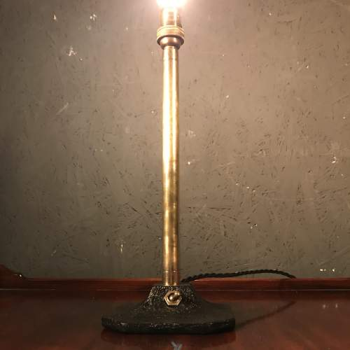 Vintage Brass Pedestal Lamp With Original Switched Base image-1