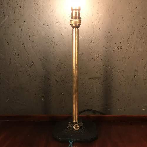 Vintage Brass Pedestal Lamp With Original Switched Base image-4