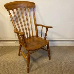 Victorian Windsor Slat Back Farmhouse Armchair