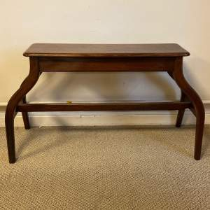 Ecclesiastical Dog Leg Pitch Pine Organ Bench