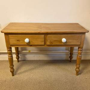 Two Drawer Victorian Pine Table