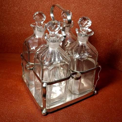 George III Sheffield Plate Four Bottle Holder image-1