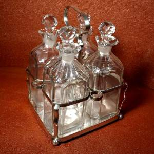 George III Sheffield Plate Four Bottle Holder Tantalus